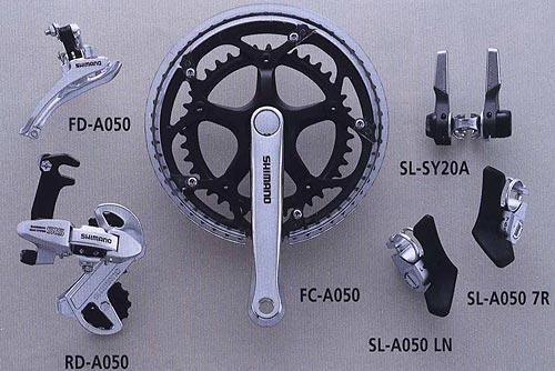 FD-A050 RD-A050 SL-SY20A FC-A050 SL-A050 LN SL-A050 7R.  Велосипедные компоненты Shimano 2010 года.