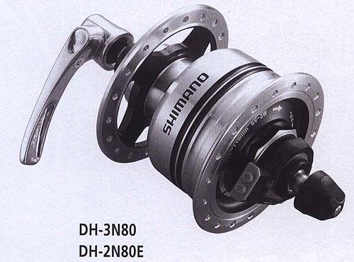 DH-3N80 DH-2N80E. Велосипедные компоненты Shimano 2010 года.