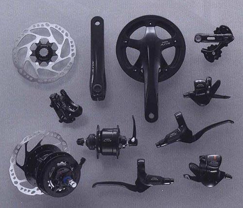 S500 (черный цвет). Компоненты серии Comfort. Велосипедные компоненты Shimano 2010 года.