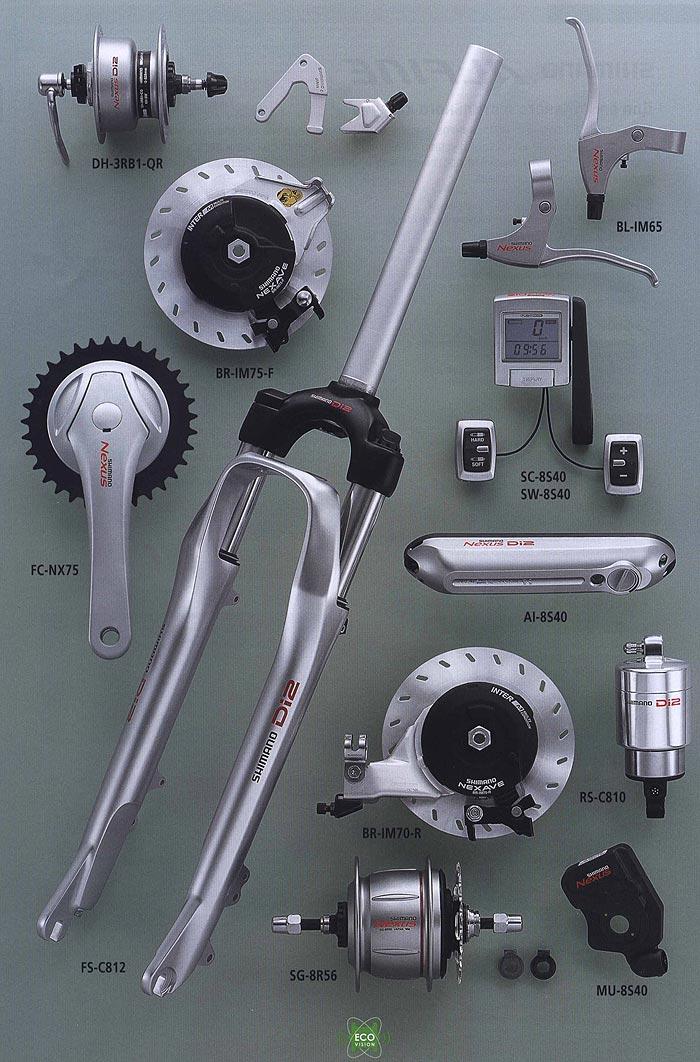 DH-3RB1-QR BR-IM75-F BL-IM65 SC-8S40 SW-8S40 FC-NX75 AI-8S40 BR-IM70-R RS-C810 FS-C812 SG-8R56 MU-8S40. <br /> Компоненты серии Comfort. Велосипедные компоненты Shimano 2010 года.