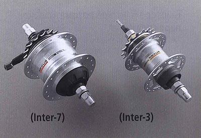 Левосторонний пыльник для использования без роллерного тормоза. (Inter-7) (Inter-3). Компоненты серии Comfort. Велосипедные компоненты Shimano 2010 года.