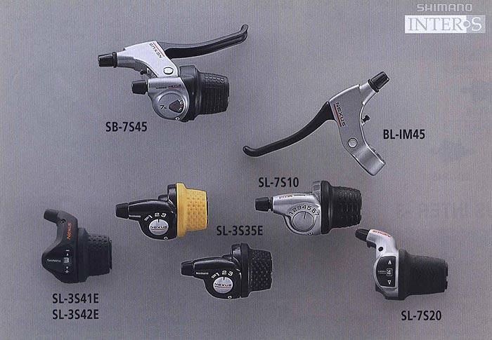 SB-7S45 BL-IM45 SL-7S10 SL-3S35E SL-3S41E SL-3S42E SL-7S20. Компоненты серии Comfort. Велосипедные компоненты Shimano 2010 года.