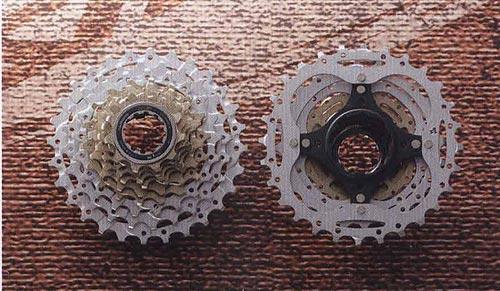 CS-HG80-9. Компоненты для горного велосипеда.  Велосипедные компоненты Shimano 2010 года.